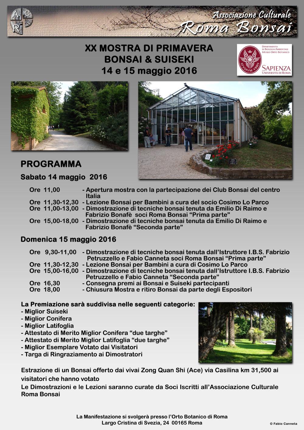 Mostra bonsai a roma orto botanico 2016 for Mostre roma 2016